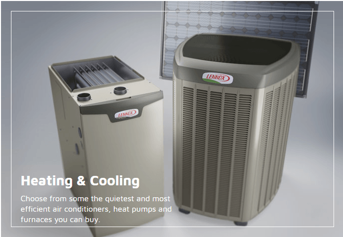 Lennox heating and cooling products link
