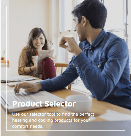 Lennox product selector link