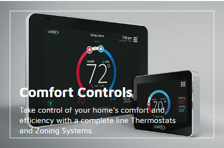 Lennox comfort controls thermostats link